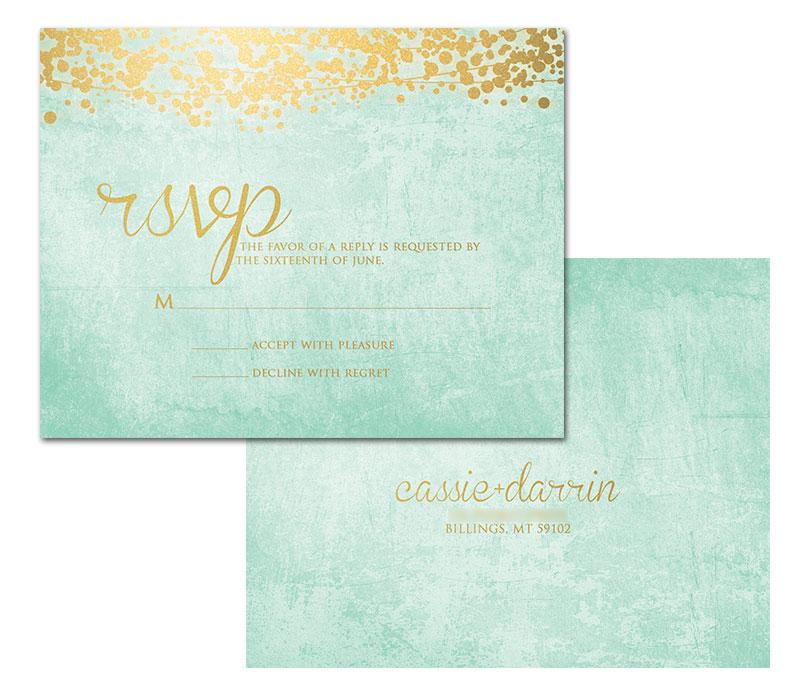 wedding invitation designs mint green matik for - Mint And Gold Wedding Invitations